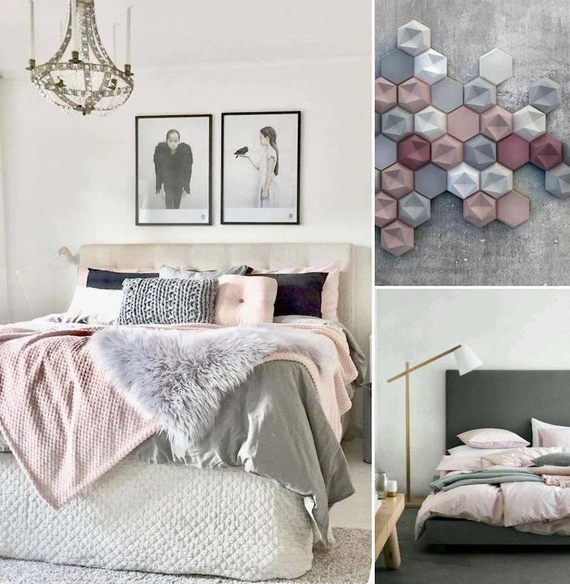 chambre gris rose
