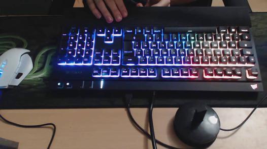 clavier mécanique rétro éclairé silencieux