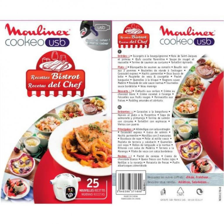 cle usb recette cookeo