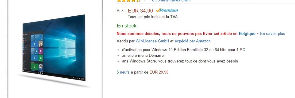 clé windows 10 amazon