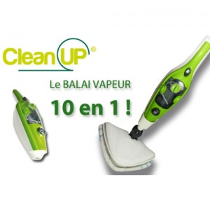 clean up balai vapeur