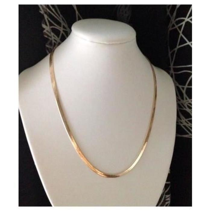 collier maille miroir or