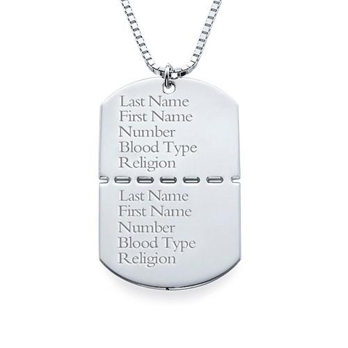 collier militaire personnalisé