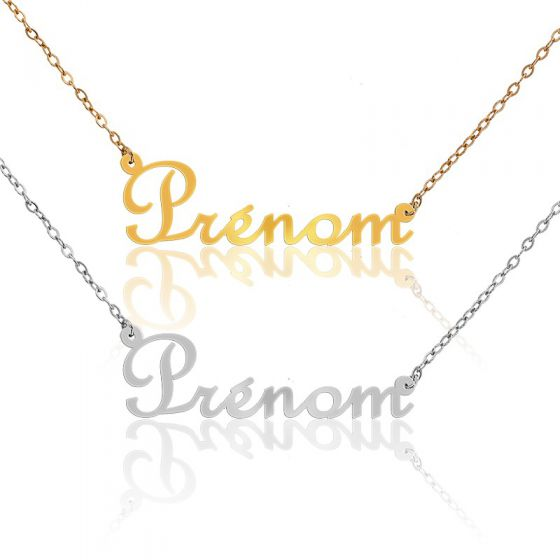 collier prénom or