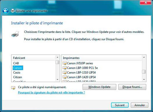 comment installer une imprimante canon