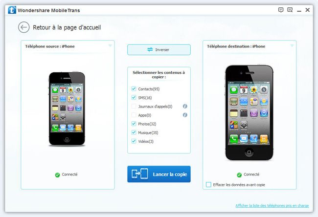 comment transferer donnees iphone vers iphone