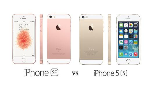 comparatif iphone 5 et se