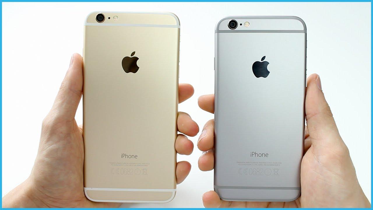 comparatif iphone 6 et 6s