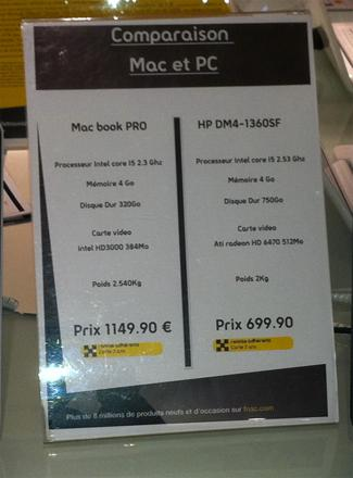 comparatif pc mac