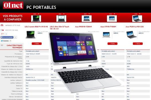 comparatif pc portable