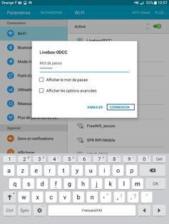 connecter une tablette samsung