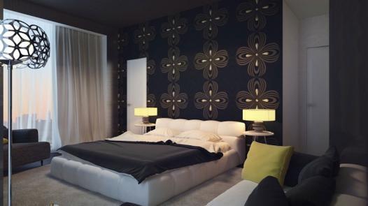 decoration chambre a coucher papier peint