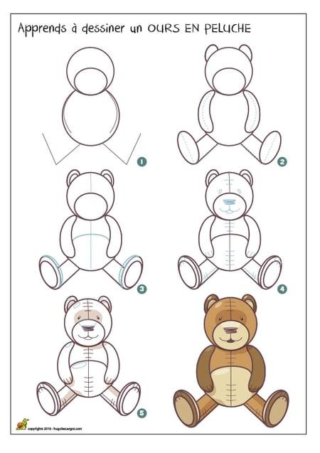 dessiner un nounours