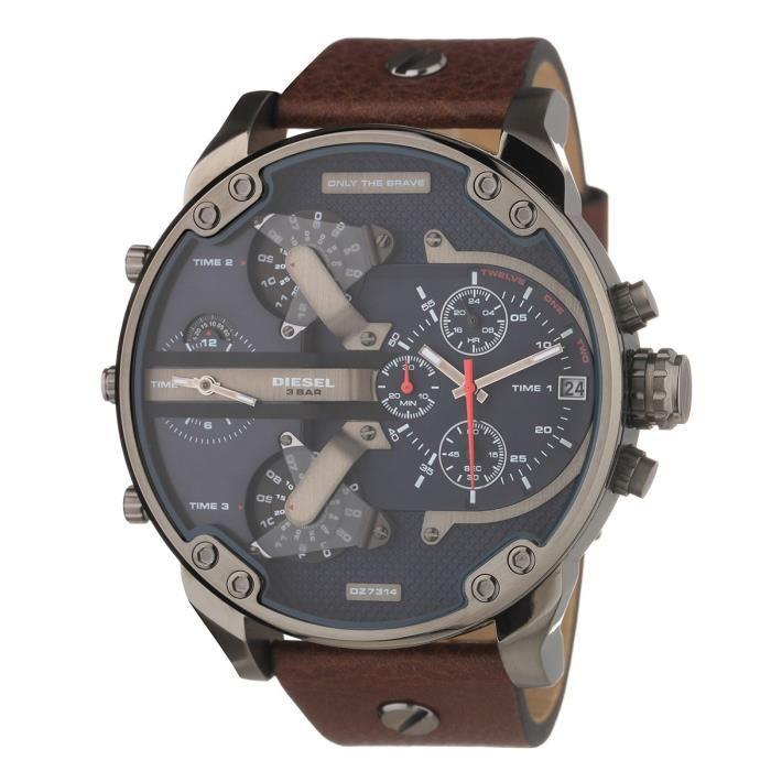diesel montre cuir homme