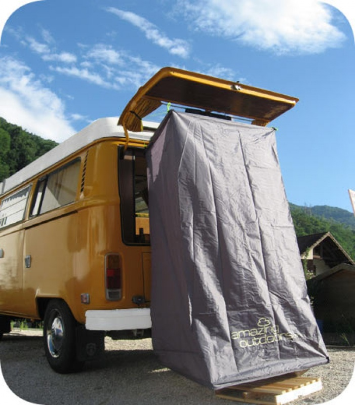 douche solaire camping car