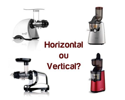 extracteur de jus vertical ou horizontal