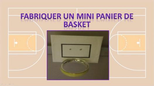 faire un panier de basket