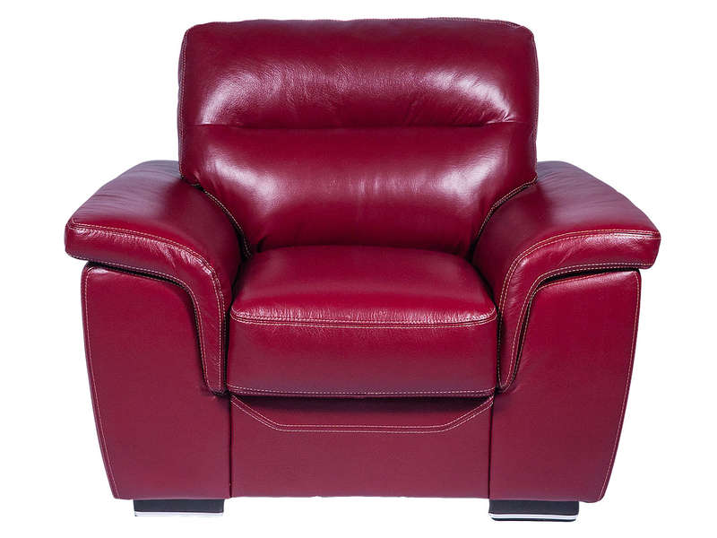 fauteuil rouge cuir