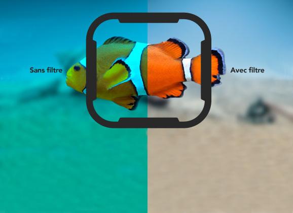 filtre gopro plongée