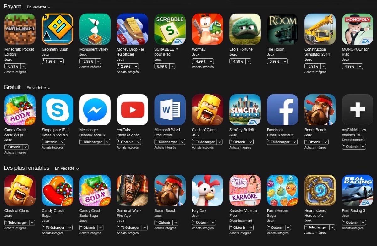 jeux ipad top