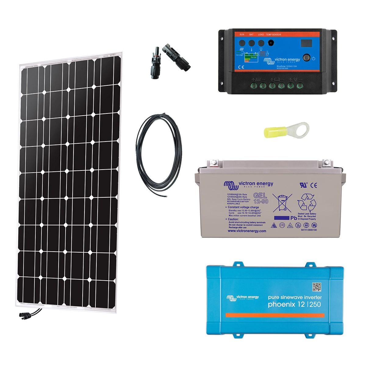 kit solaire 100w