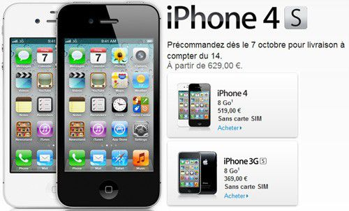 le prix de l iphone 4s