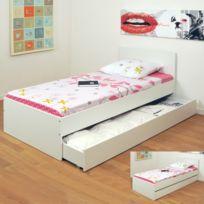 lit avec tiroir 90x190