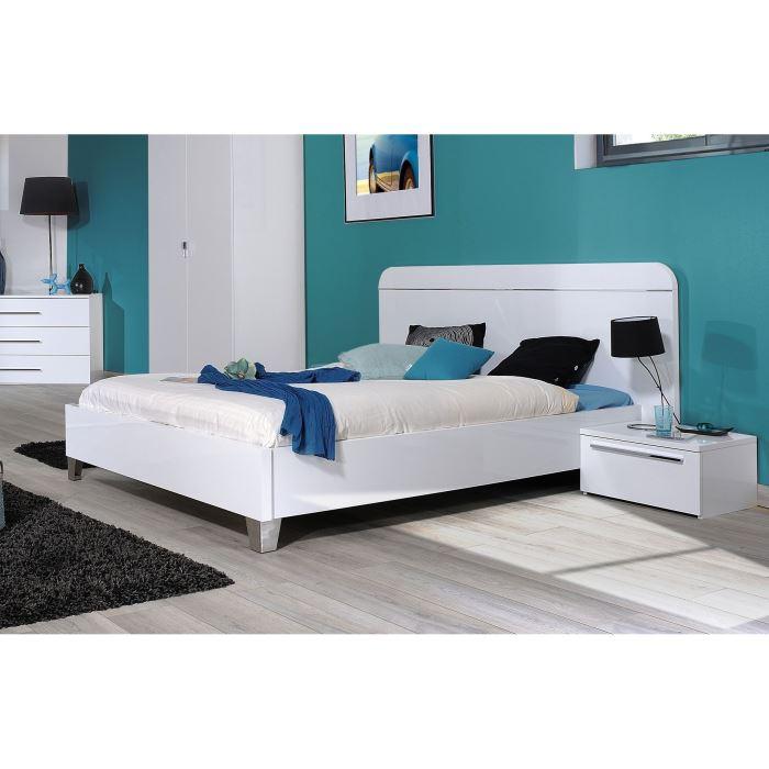 lit blanc adulte pas cher