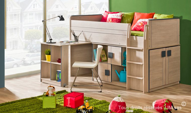 lit enfant combiné bureau