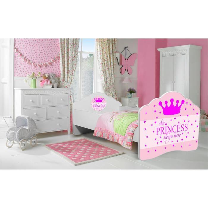 lit fille princesse pas cher
