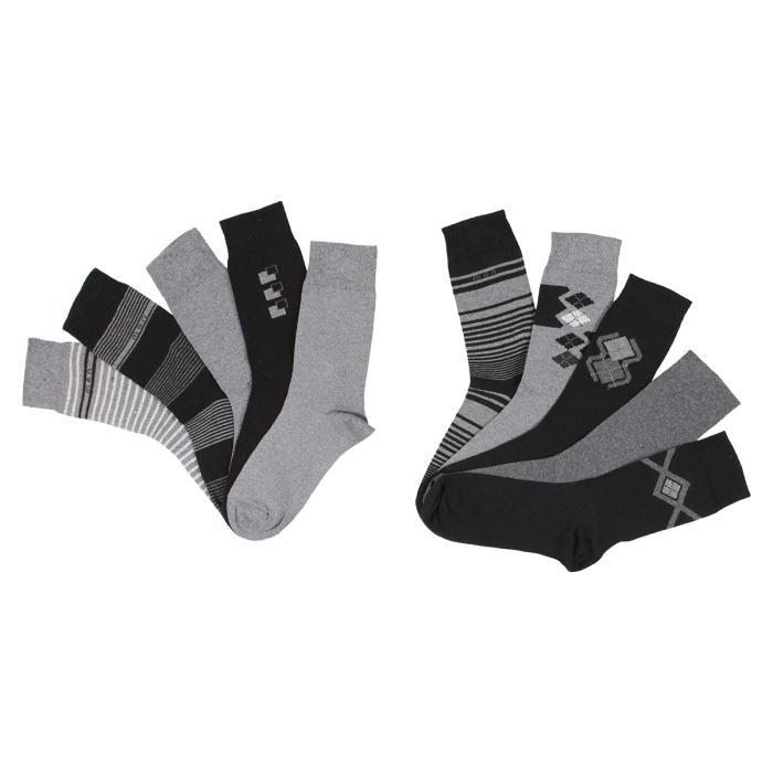 lot de 10 paires de chaussettes homme