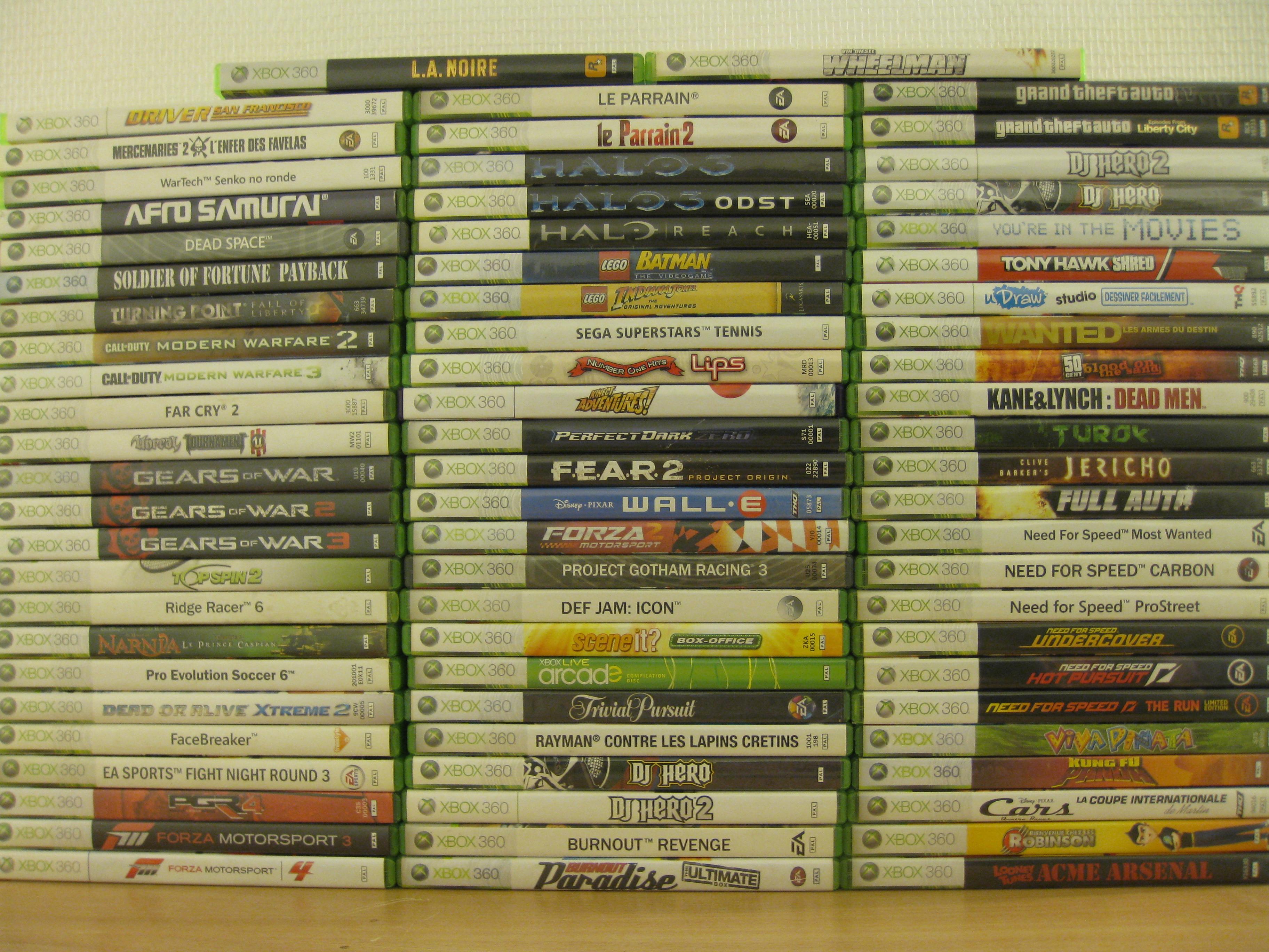 lot de jeux xbox 360