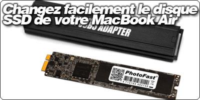 macbook air disque dur