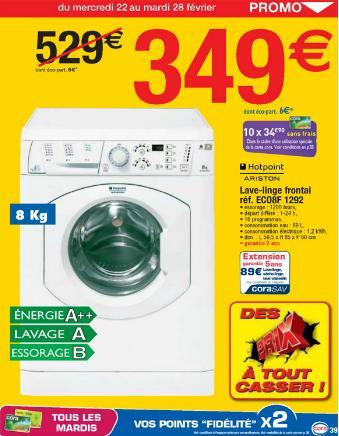 machine à laver promotion