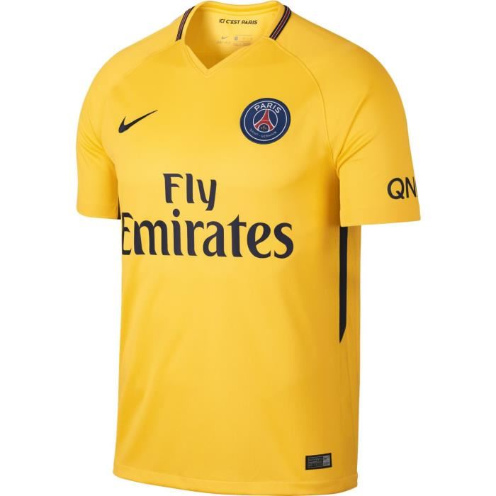 maillot psg jaune nike
