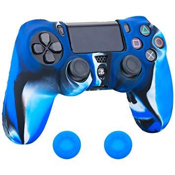 manette ps4 rouge et bleu
