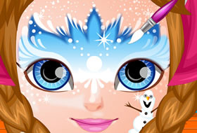 maquillage reine des neiges jeux