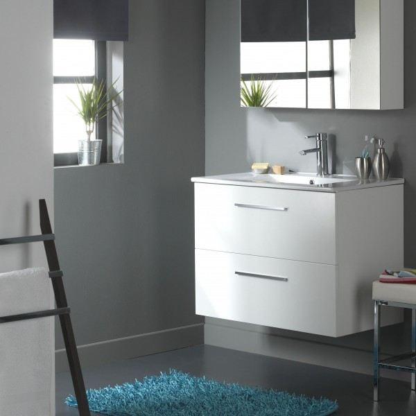 meuble de salle de bain blanc pas cher