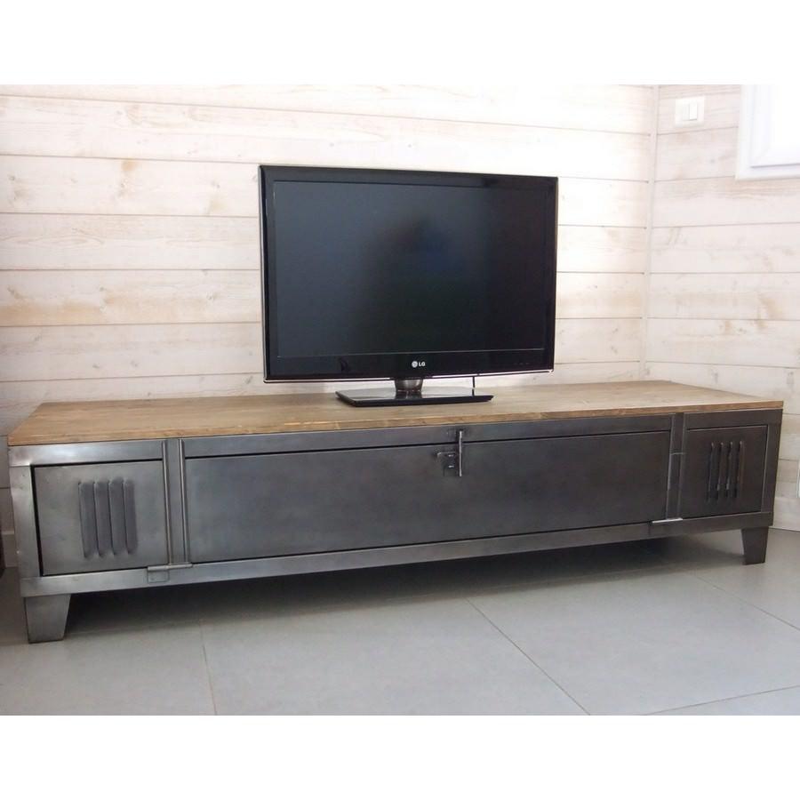 meuble tv casier metal