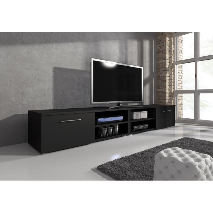 meuble tv noir mat