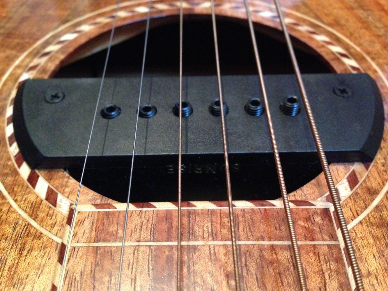 micro de rosace pour guitare acoustique