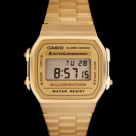 montre casio vintage dorée femme