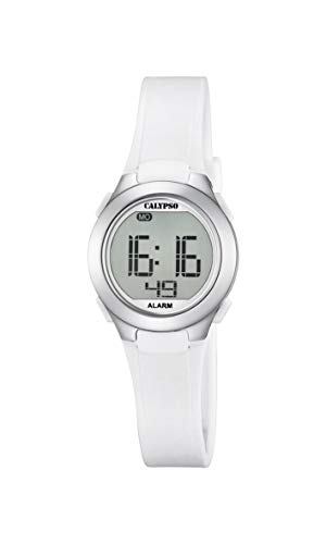 montre digitale blanche