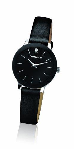 montre femme bracelet noir cuir