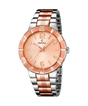 montre festina or rose