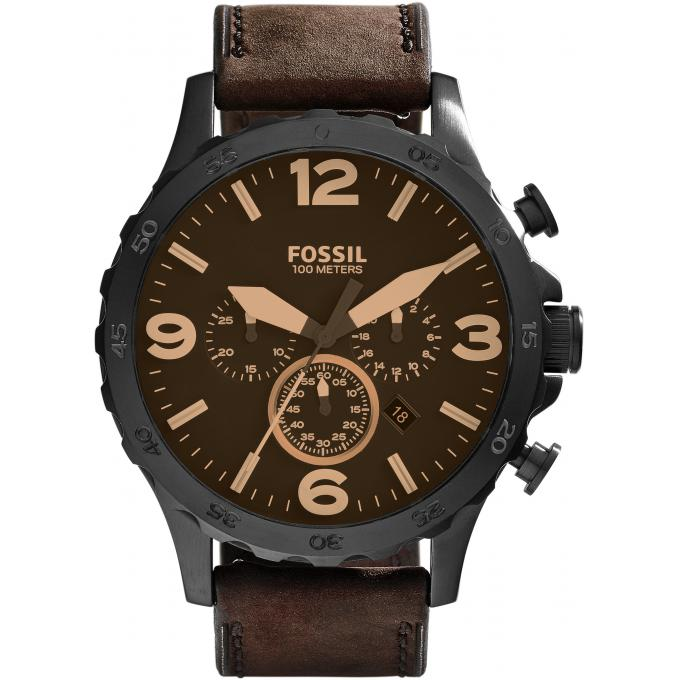 montre fossil marron homme