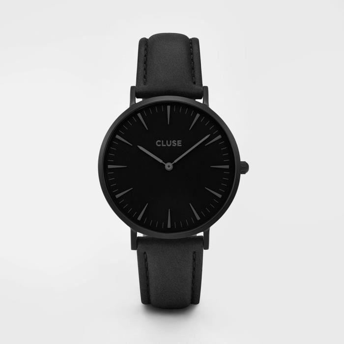 montre noir cluse