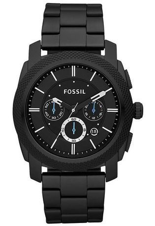 montre noir fossil