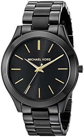 montre noir michael kors femme