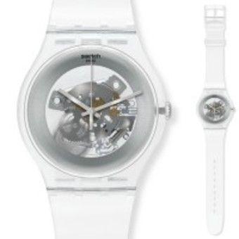 montre swatch bracelet transparent